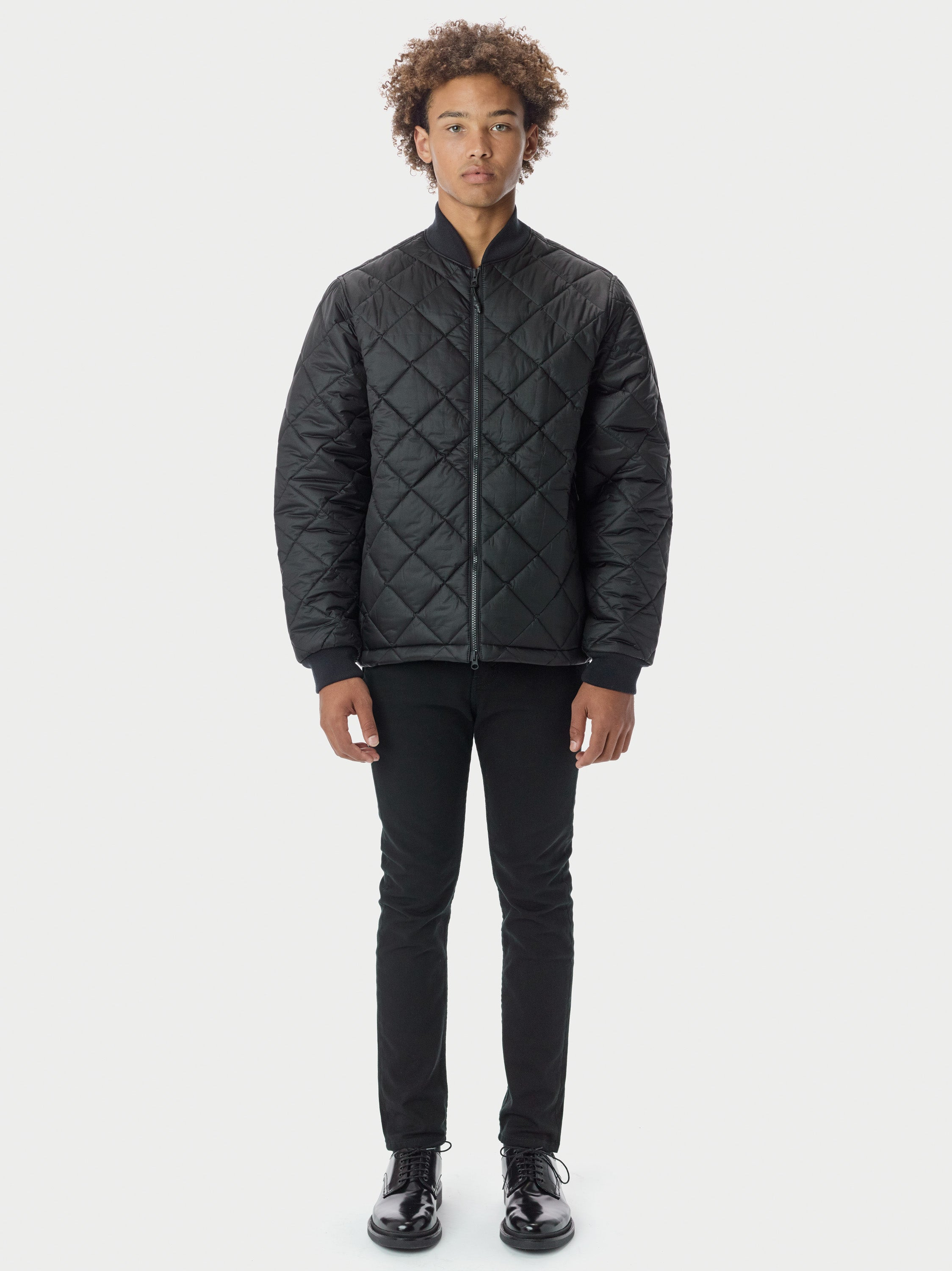 Quilted Through Quilted Bomber - Black Quilted Bomber - Black