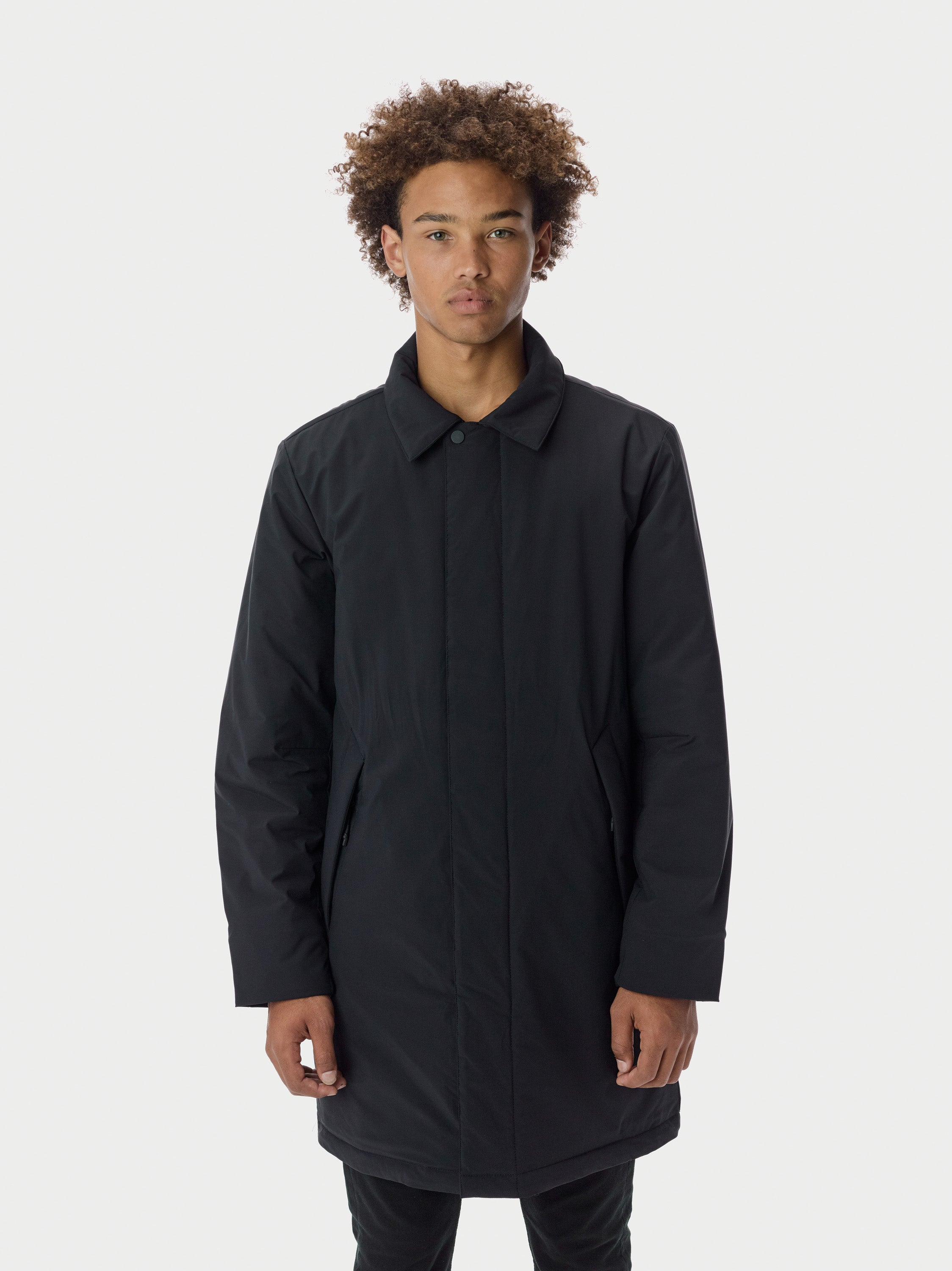Filled Car Coat - Black Car Coat - Black