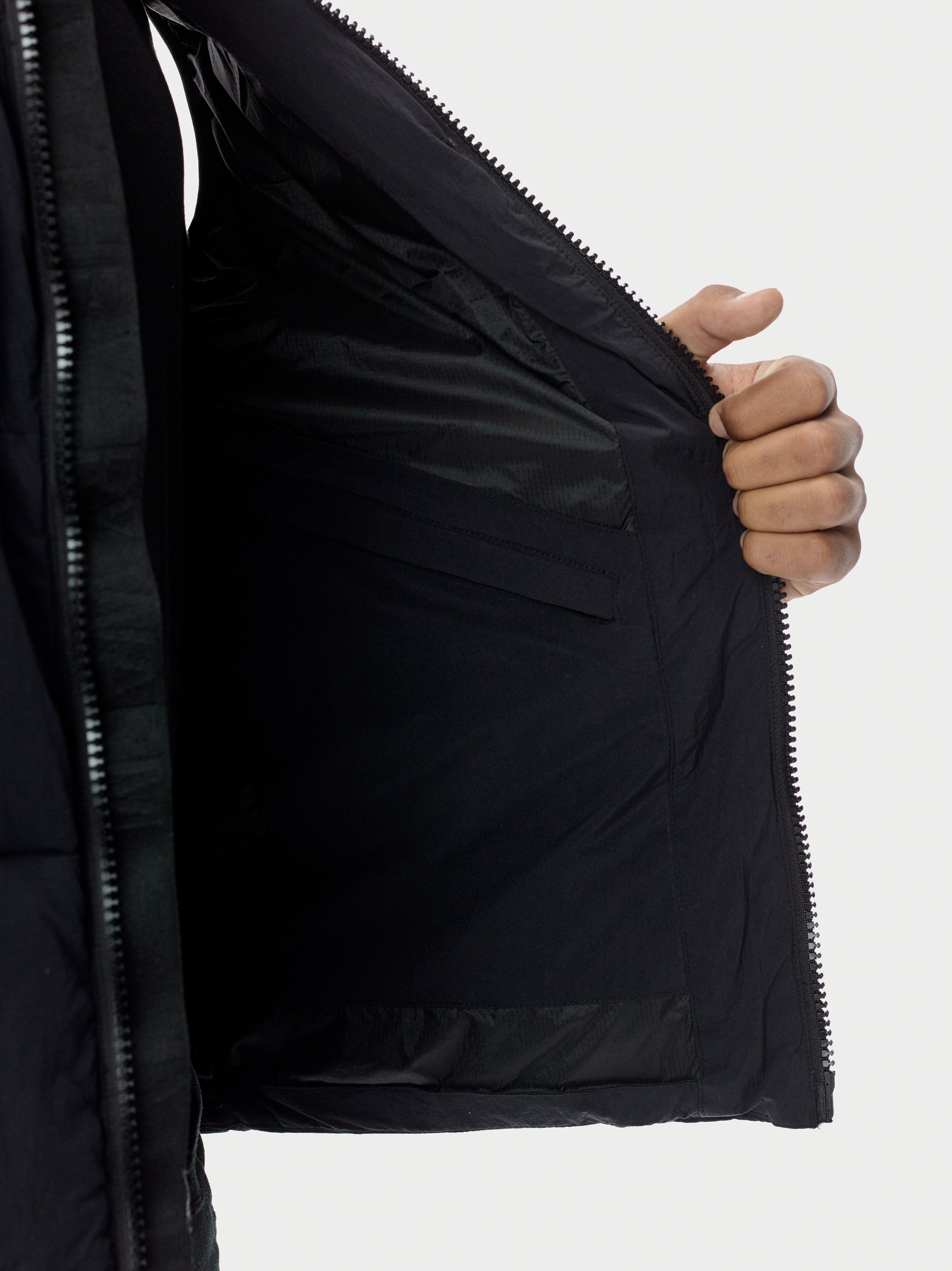 Filled Bubble Puffer Vest - Black Puffer Vest - Black