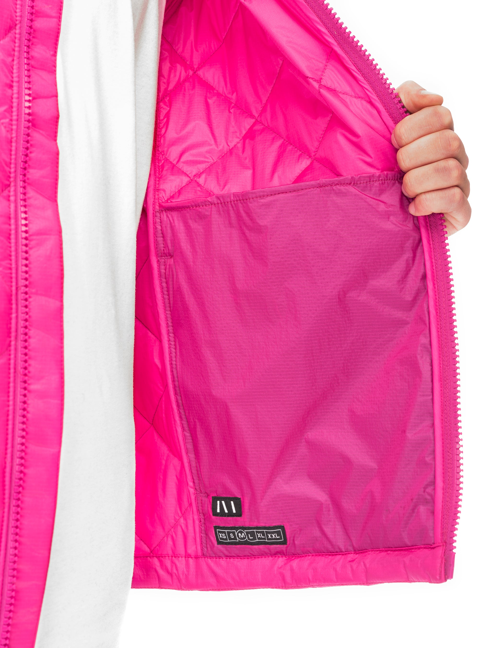 Quilted Through Quilted Bomber - Fuchsia [bomber_Vandal], [The Very Warm], [The Very Warm]