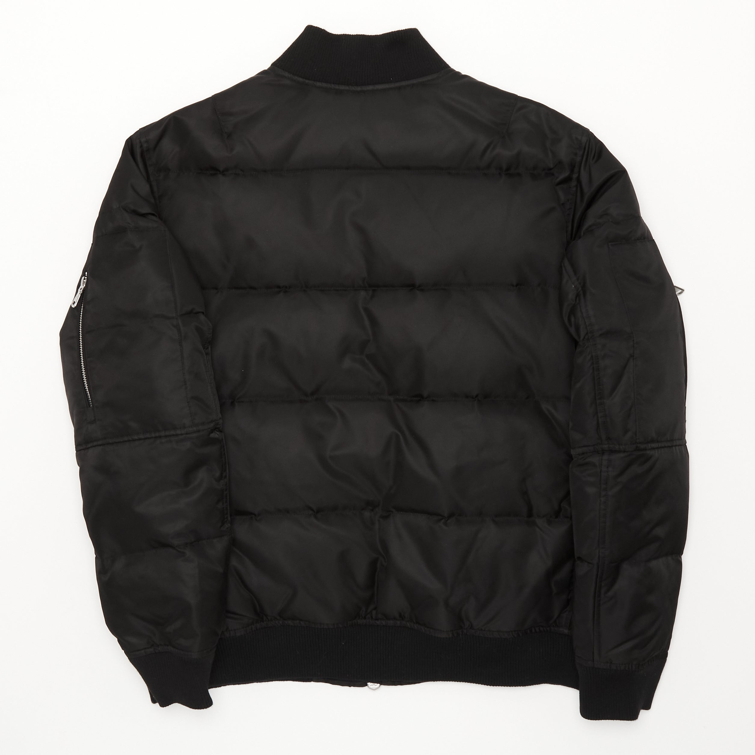 Artist Series Unisex Quilted Down Bomber - Black Unisex Quilted Down Bomber - Black