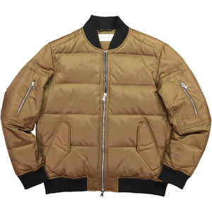 Artist SeriesUnisex Quilted Down Bomber - Camel Unisex Quilted Down Bomber - Camel