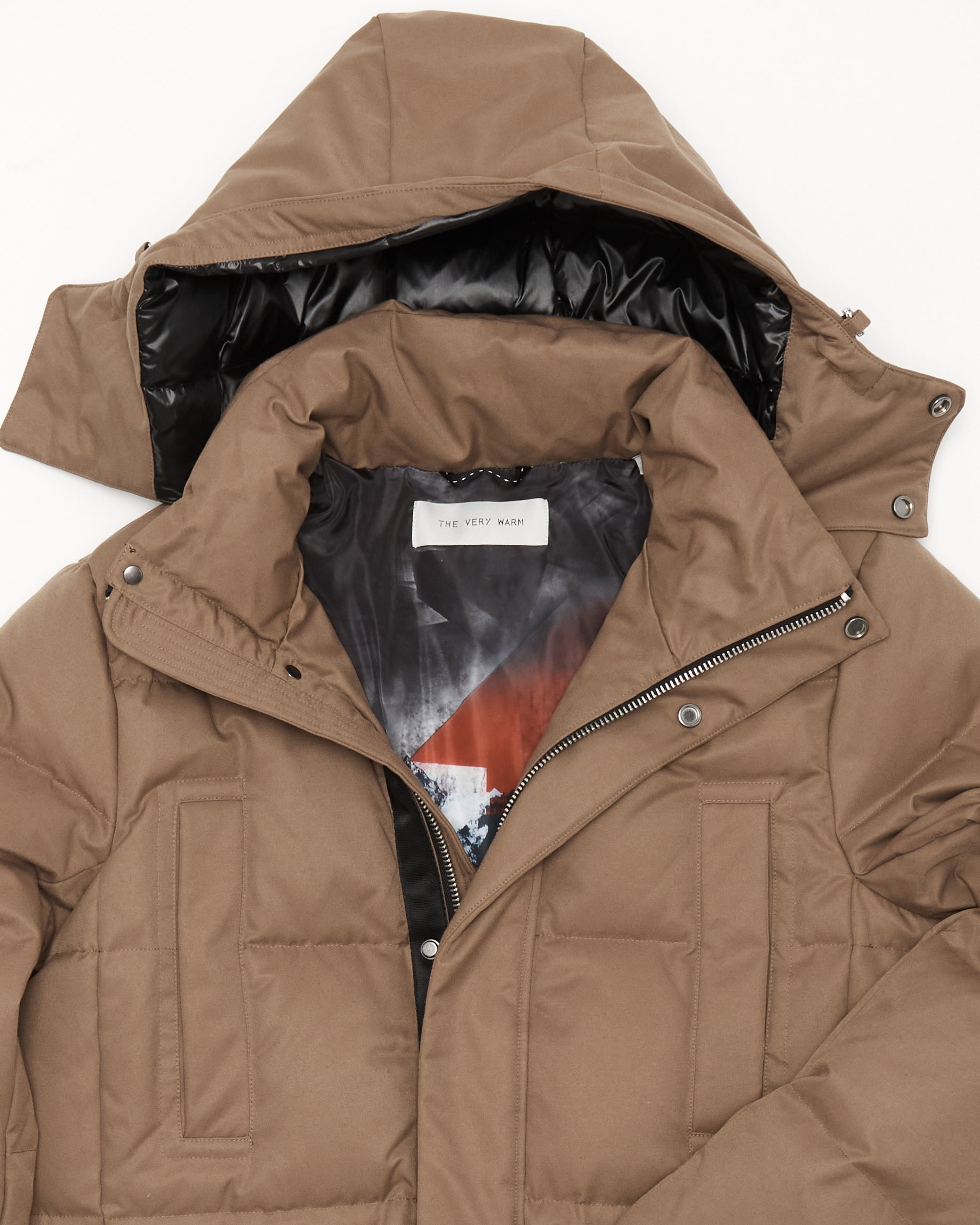 Artist Series Mens Long Down Parka - Camel Mens Long Down Parka - Camel
