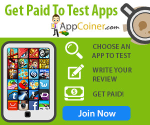 Get Paid To Test Apps Banner