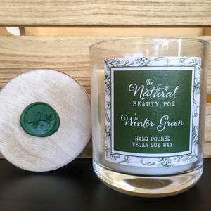Winter Green, Soy Candle, Hand Poured, Vegan