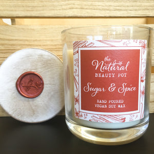 Sugar and Spice, Soy Candle, Hand Poured, Vegan, Cinnamon, Clove