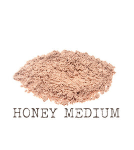 Honey Medium Mineral Foundation The Natural Beauty Pot