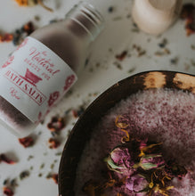 Rose Bath Salts, Natural, Organic, Relaxing Bath, Vegan, Handmade
