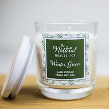 Winter Green Soy Wax Hand Poured Candle 50 hours Burn Time