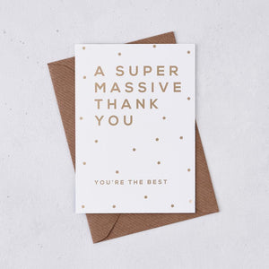 A Super Massive Thank You Card