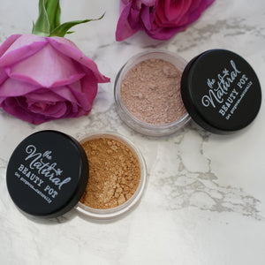 Mineral Highlighter | Gold Highlighter | Pink Highlighter | Vegan Make Up | Cruelty Free