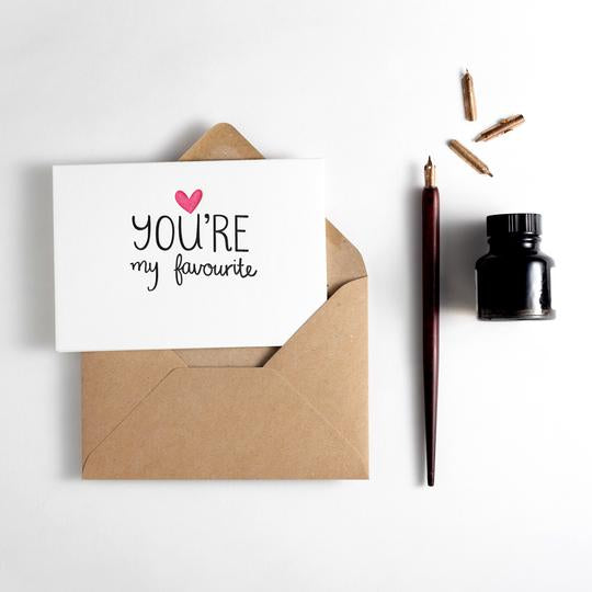 You're my Favourite Letterpress Card