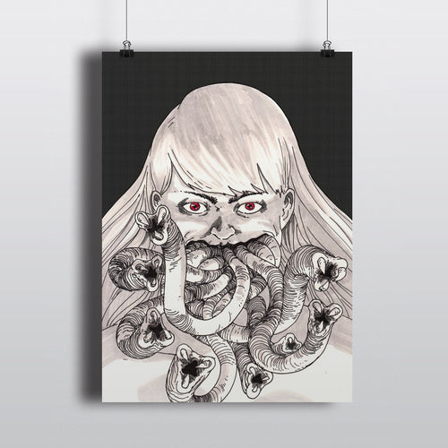 Tentacle Face Girl