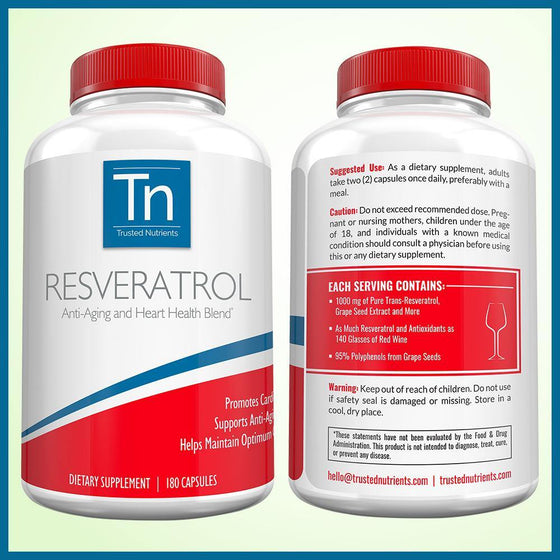 100% Pure Resveratrol - Trusted Nutrients