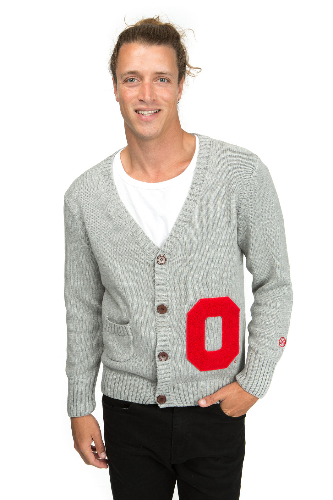 Ohio State Letterman Cardigan Sweater