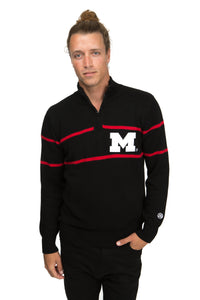 Maryland Mock Ribbed Quarter Zip Sweater
