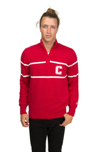 Cornell Mock Ribbed Quarter Zip Sweater