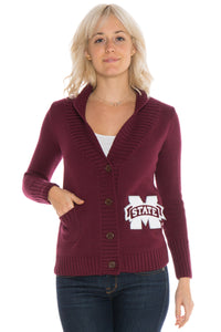Mississippi State Letterman Cardigan Sweater