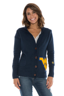 West Virginia Letterman Cardigan Sweater