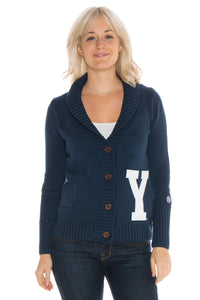 Brigham Young University Letterman Cardigan Sweater