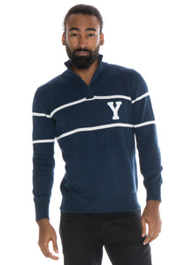Brigham Young University Mock Ribbed Quarter Zip Sweater
