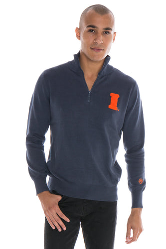 Illinois Quarter Zip Sweater