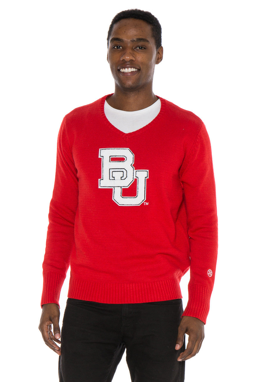 Boston University V-Neck Sweater