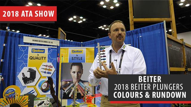 Beiter talks about the features, sizes and colours of their 2018 plunger lineup - ATA Show 2018