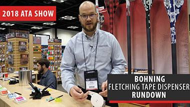 Bohning shows us their new fletching tape dispenser - ATA Show 2018