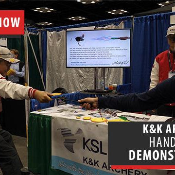 K&K Archery shows us a bunch of their products, including KSL Jet 6 vanes and puller - ATA Show 2018