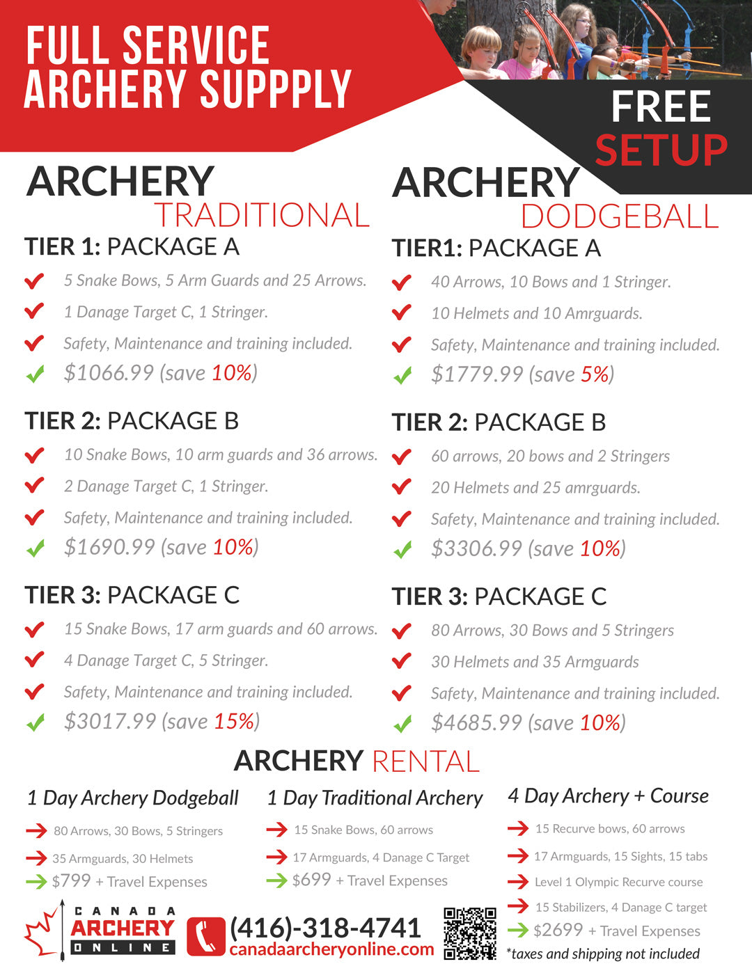 Canada Archery Online Camps & Recreation