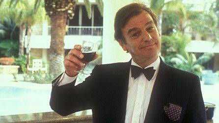 Keith Floyd raising a toast to life