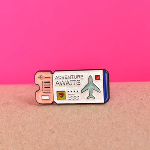 adventures awaits pin solo
