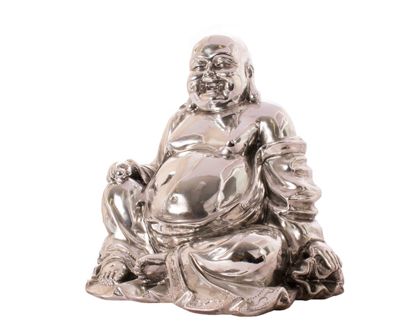 Chrome Effect Laughing Buddha