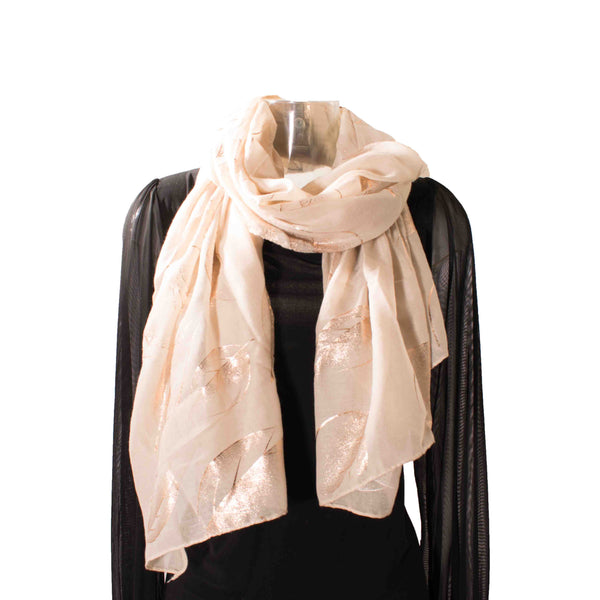 Rose Gold Leaf Scarf