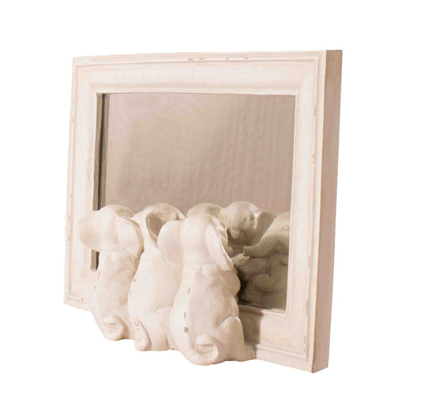 Shabby Chic Elephant Mirror