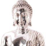 Chrome Effect Meditating Buddha
