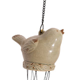 Birdie Wind Chime - Crazed Green