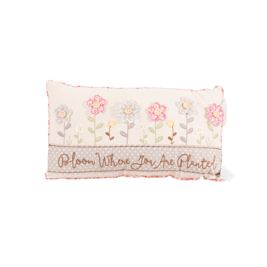 'Bloom Where You Are Planted' Cushion