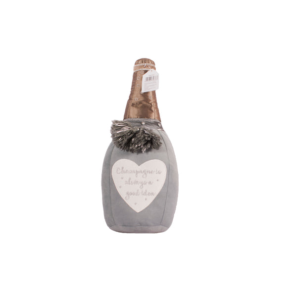 'Champagne Is Always A Good Idea' Champagne Bottle Doorstop