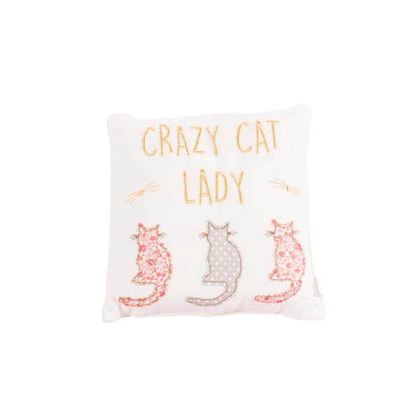 'Crazy Cat Lady' Cat Cushion