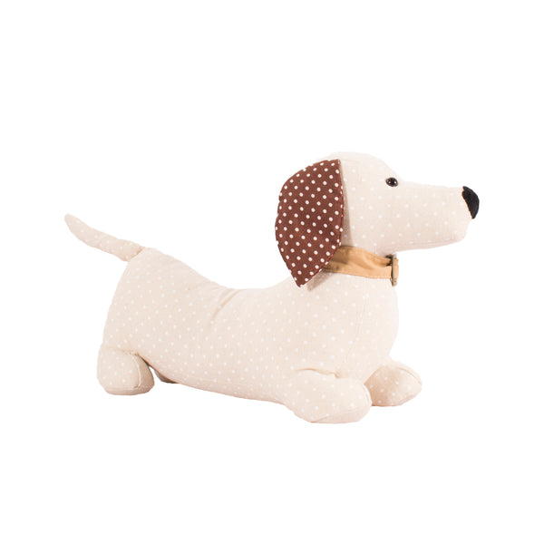 Dachshund Doorstop - Cream