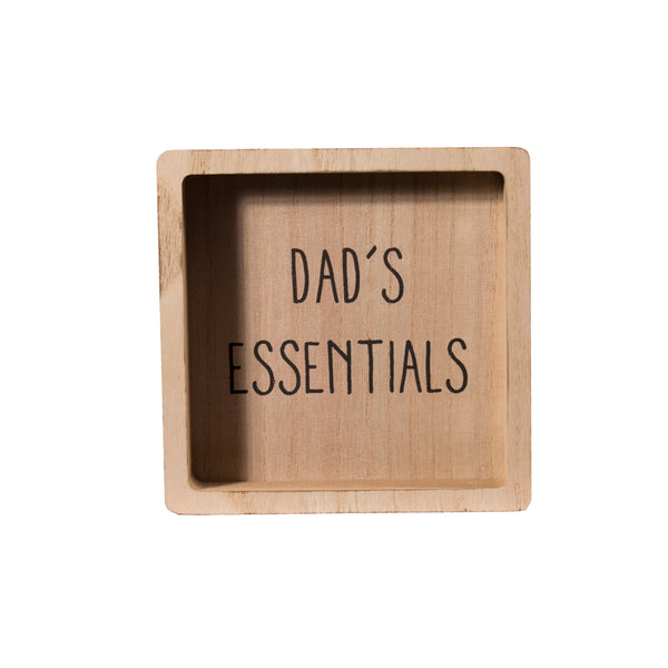 'Dad's Essentials' Safe Place For Manly Things Bits & Bobs Man Tray