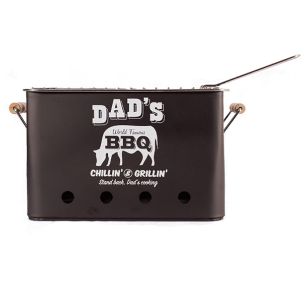 'Dad's BBQ' Portable Metal BBQ