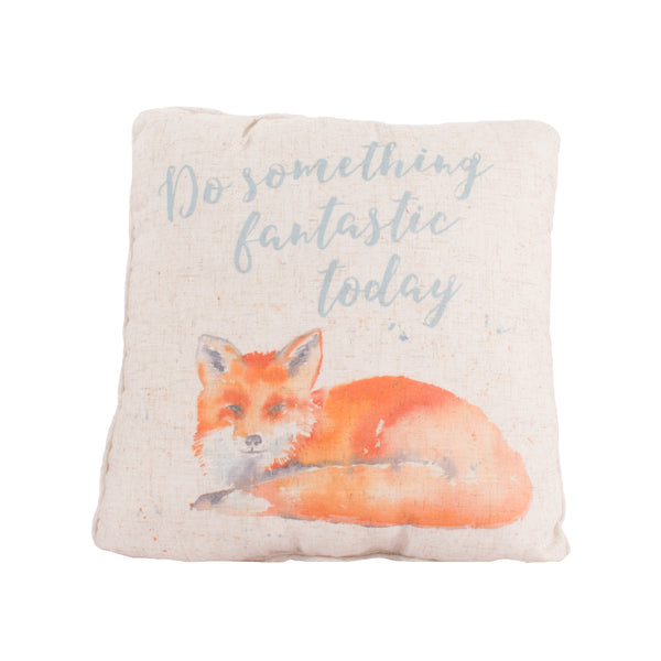 'Do Something Fantastic Today' Fox Cushion