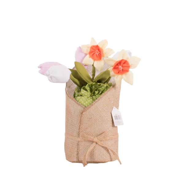 Tulips & Daffodils Flower Bouquet Doorstop