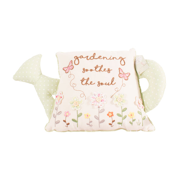 'Gardening Soothes The Soul' Watering Can Cushion