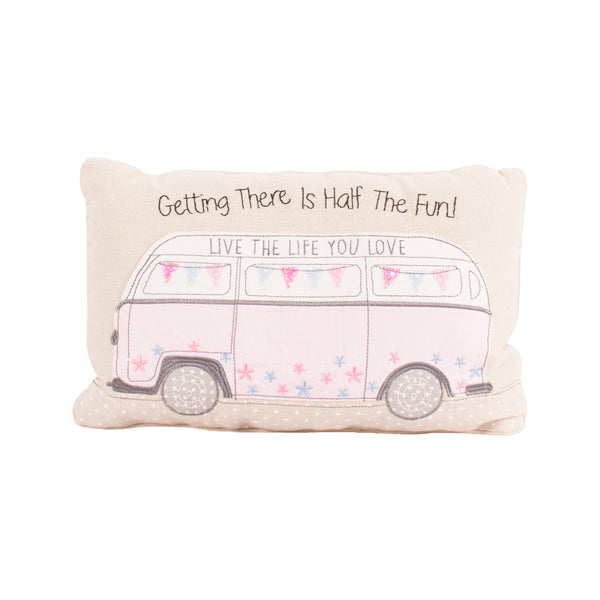 Getting There Is Half The Fun Camper Van Cushion