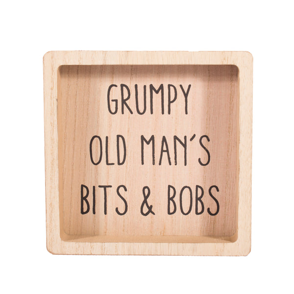 'Grumpy Old Man's Bits & Bobs' Safe Place For Manly Things Man Tray