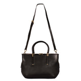 leather handbag, quality, black